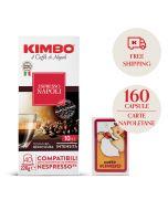 Promo 160 capsule Kimbo Napoli + 1 mazzo di carte Napoletane