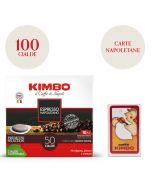 Promo 100 cialde Kimbo Espresso Napoletano + 1 mazzo di carte Napoletane