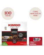 Promo 100 cialde Kimbo Espresso Napoletano + 1 mazzo di carte Mercante in Fiera