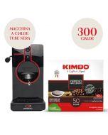 Promo Macchina da caffè a cialde nera + 300 cialde Kimbo Espresso Napoletano