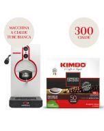 Promo Macchina da caffè a cialde bianca + 300 cialde Kimbo Espresso Napoletano