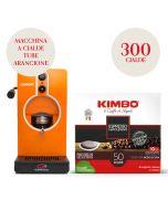 Promo Macchina da caffè a cialde arancione + 300 cialde Kimbo Espresso Napoletano