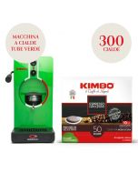 Promo Macchina da caffè a cialde verde + 300 cialde Kimbo Espresso Napoletano