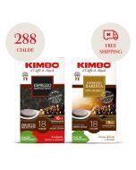 Promo144 cialde Kimbo Armonia 100% Arabica + 144 cialde Kimbo Espresso Napoletano